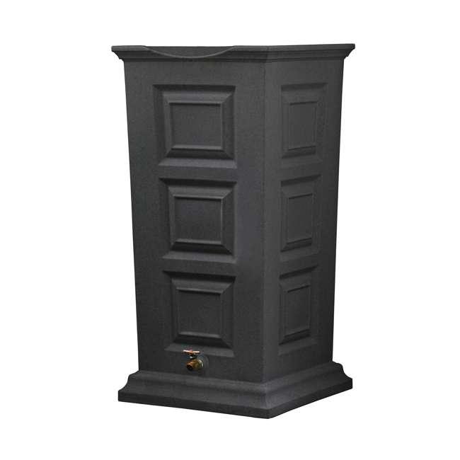 SV-RS-DAR Good Ideas Savannah Outdoor 55 Gallon Rain Barrel and Planter, Dark Granite 1