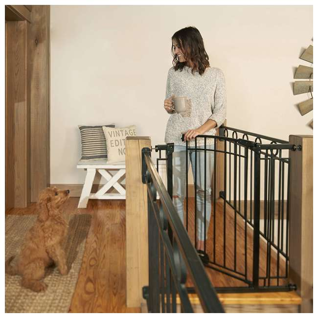 4471110 36-Inch Adjustable Baby & Pet Safety Gate, Black 9