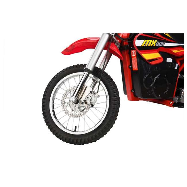 15128190 + 96785 + 97775 Razor MX500 Dirt Rocket Electric Moto Bike with Helmet, Elbow & Knee Pads 8