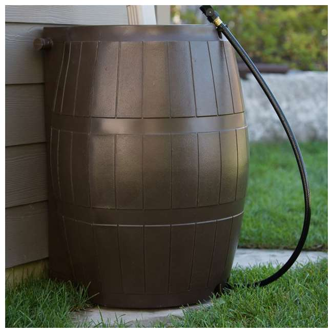 RC4000-BRN FCMP Outdoor RC4000-BRN 45-Gal BPA Free Home Rain Water Catcher Barrel (2 Pack) 4