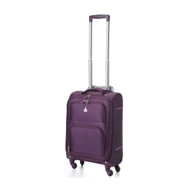 AERO9970 plum 21 FBA Aerolite Maximum Allowance Heavy Duty Airline Approved Carryon Suitcase, Plum