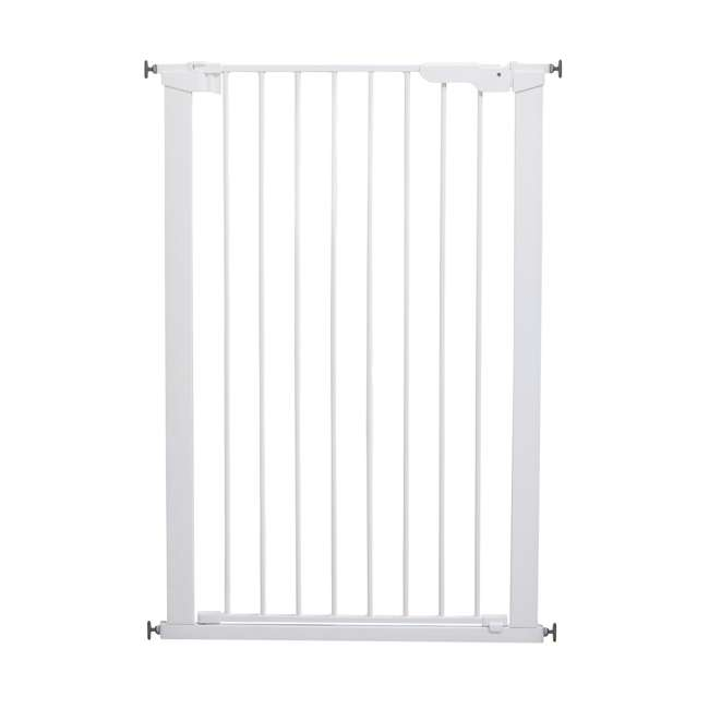 BBD-50914-2490 + BBD-5834-2400 BabyDan Scandinavian 31 Inch Pet Safety Gate & 2-Pack Gate Extensions, White 1