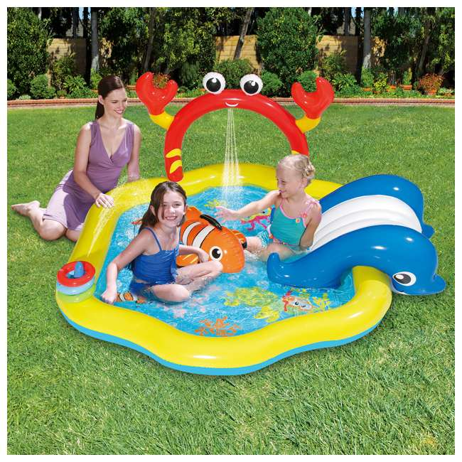 KA0047000167 + KA0040000167 Summer Waves Jungle Animal and Under the Sea Kiddie Pools 7