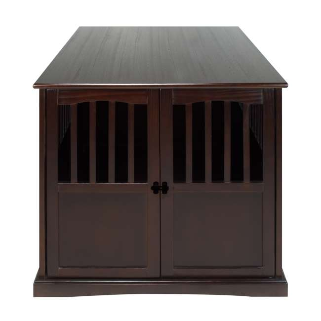 600-84 Casual Home Extra Large Pet Crate End Table, Espresso