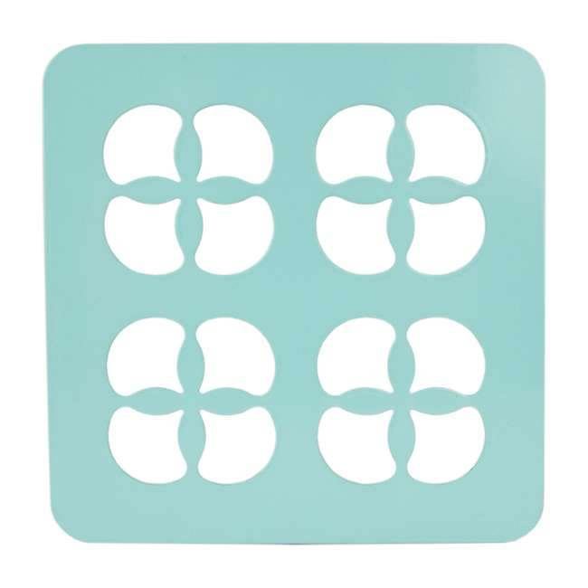 TR47371 Home Basics Protective Steel Trivet For Hot Surfaces, Turquoise