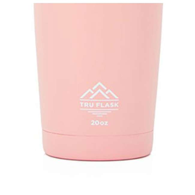 TF20 Pink Tumbler Tru Flask TF20 Insulated 20oz Stainless Steel Tumbler, Rose 1