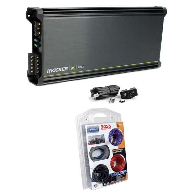 Kicker 11DX600 5 600W 5 Channel Amplifier + Remote + Amp Kit (Package)