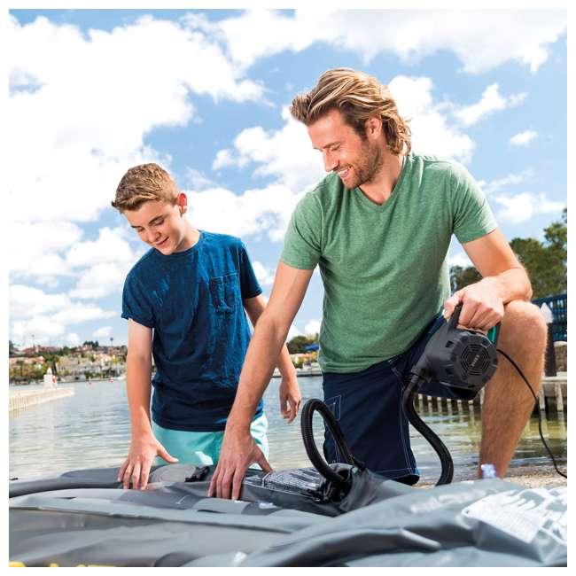 66643E + 66810EP Intex Kids Inflatable Raised Frame Travel Air Bed w/ Hand Pump & Electric Pump 2