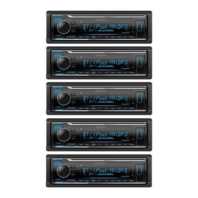 5 x KMM-BT322 Kenwood Car Audio Digital Media Receiver with Bluetooth (5 Pack)