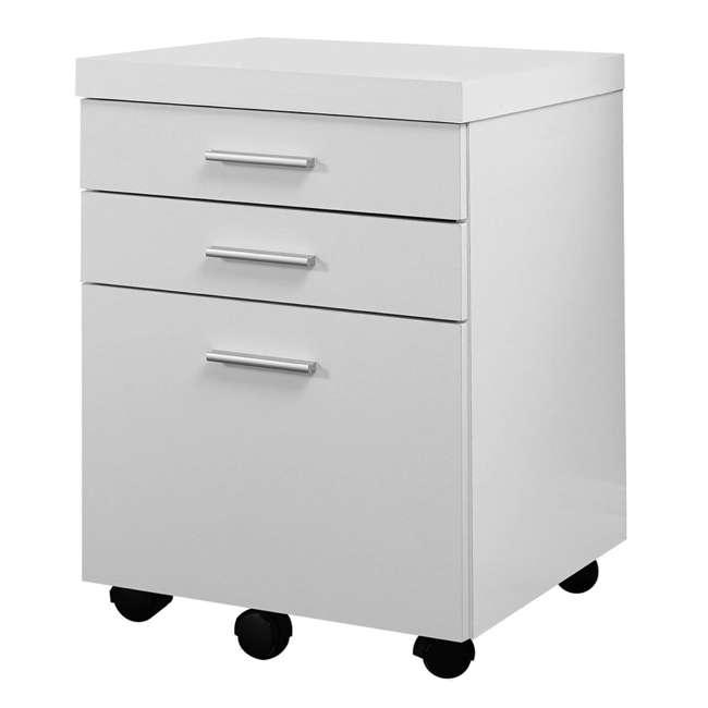 VM-7081 + VM-7048 Monarch 60 Inch Office Computer Desk w/ Filing Drawer & 3 Drawer Filing Cabinet 6