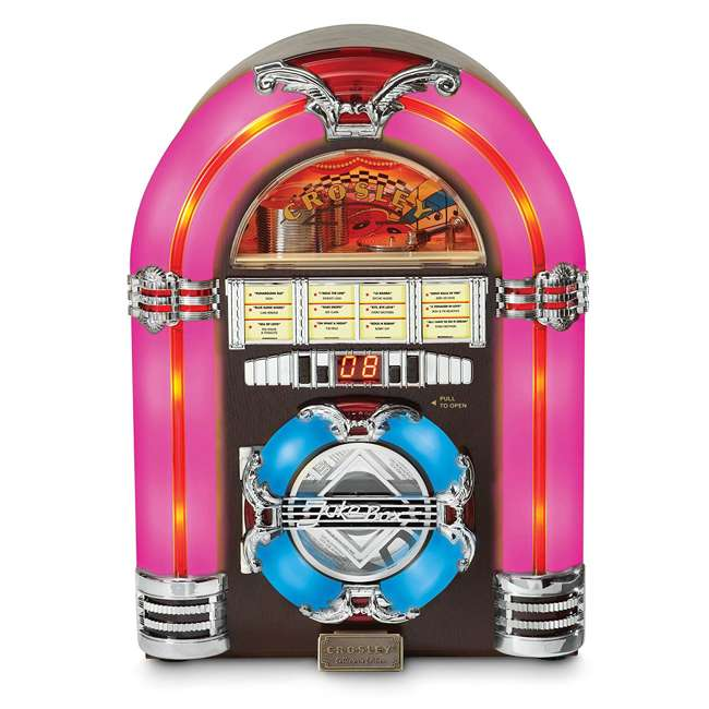 CR1101A-CH Crosley LED Tabletop Jukebox CD Player 2