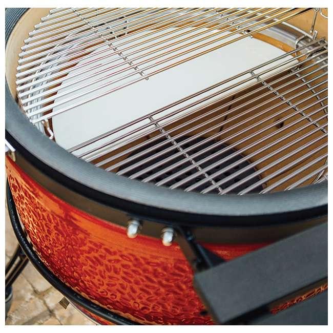 """KJ23RHCI-A Kamado Joe KJ23RHCI Joe Classic III 18"""" Portable BBQ Ceramic Charcoal Grill, Red 2"""