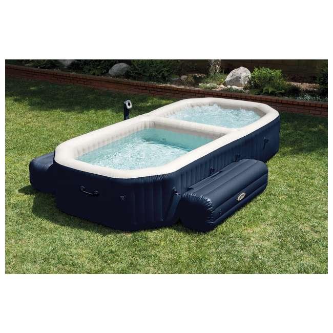 intex purespa inflatable bubble hot tub and pool set 28491e. Black Bedroom Furniture Sets. Home Design Ideas