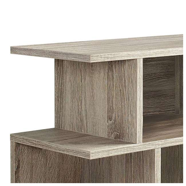 """VM-2476-U-B Monarch Specialties 24"""" Wood Hollow Core Side Accent Table, Dark Taupe (Used) 3"""