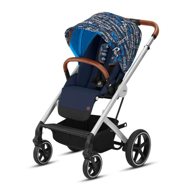 519000419 Cybex Balio S Convertible Baby Infant Baby Stroller with Sun Canopy, Trust Blue