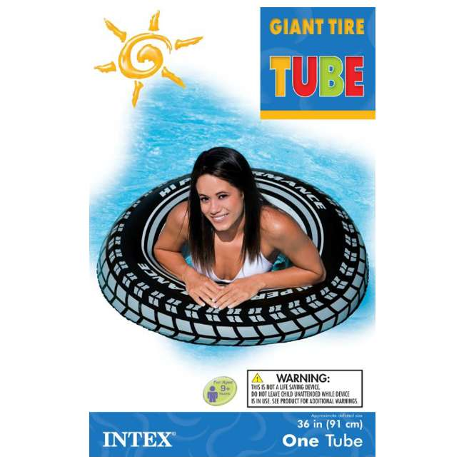4 x 59252EP-U-A INTEX  Giant Tire Inflatable Floating Swimming Tube Raft  |  (Open Box) (4 Pack) 2