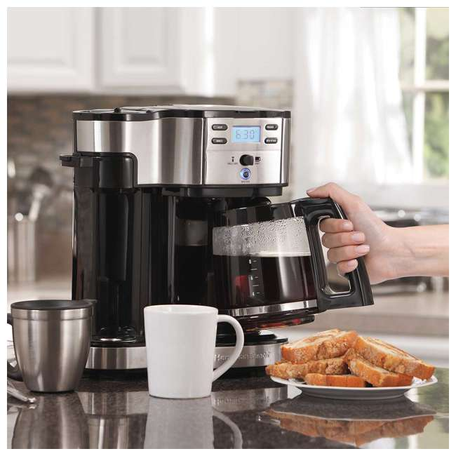 49980A-U-C Hamilton Beach 2 Way Coffee Maker with 12 Cup Carafe and Pod Brewing (For Parts) 2