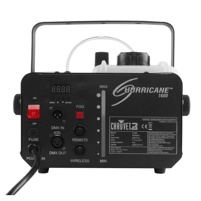 H1600 + FC-W Chauvet DJ Hurricane 1600 Fog Machine w/ Wired & Wireless Remote  4