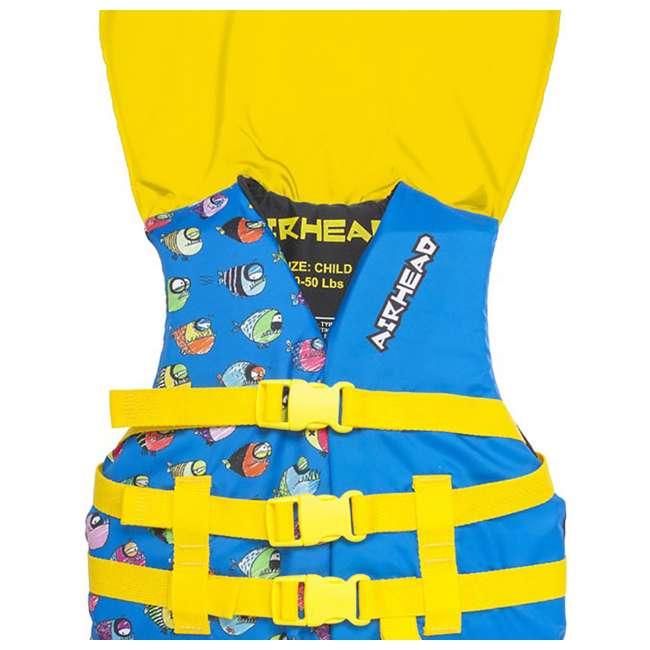 12 x 10086-02-A-BL Airhead Crayon Fish Child Life Vest, Blue (12 Pack) 5