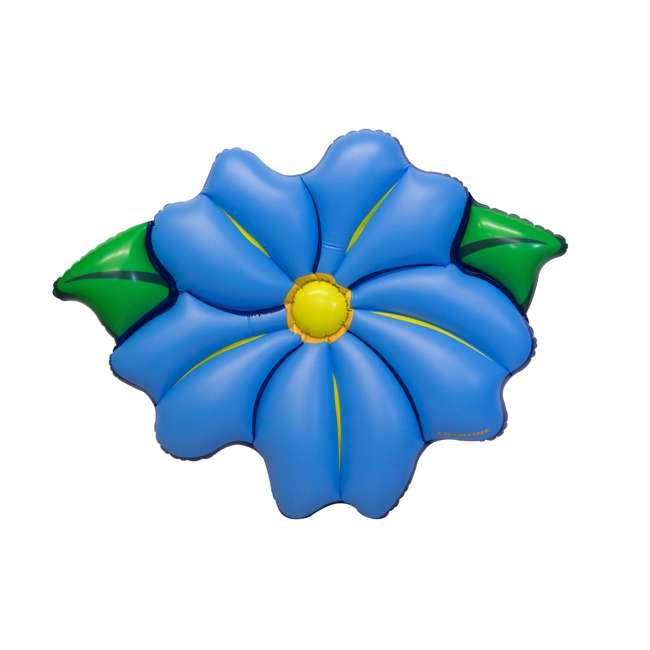 "3 x SL-90560M Swimline 75"" Inflatable Primrose Flower Relaxation Lounge Float, Blue (3 Pack) 1"