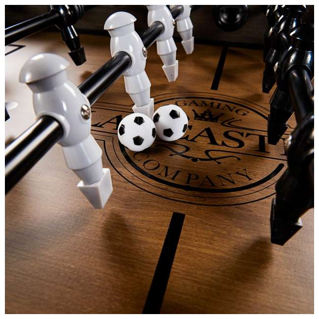 SOC056_188P Lancaster Gaming Company Loxley 56-Inch Traditional Soccer Foosball Table 3