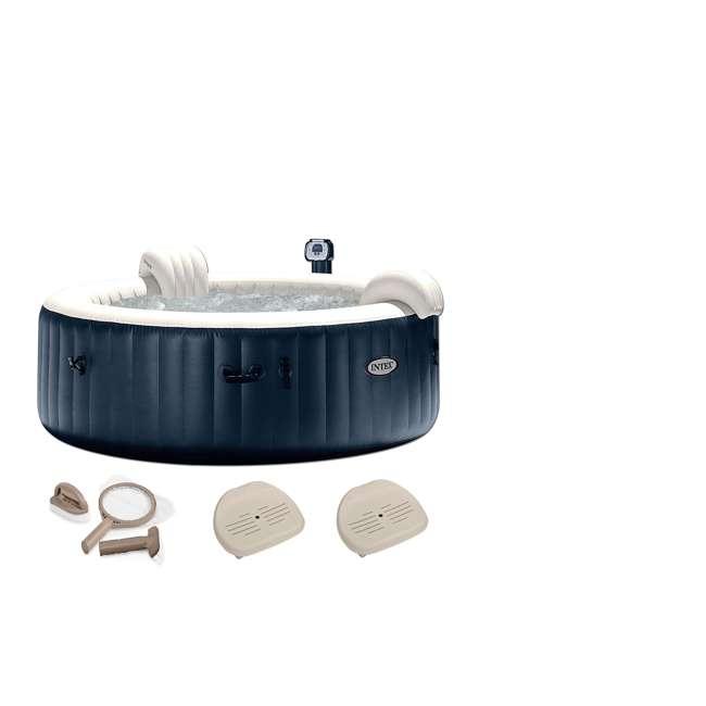 "28409E + 28004E + 2 x 28502E Intex 75"" Round Hot Tub w/ Maintenance Accessory Kit, & Removable Seat (2 Pk)"