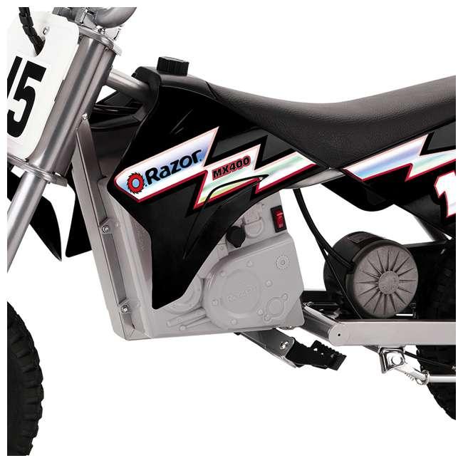 15128099 Razor MX400 Dirt Rocket Electric Motorcycle, Black 4
