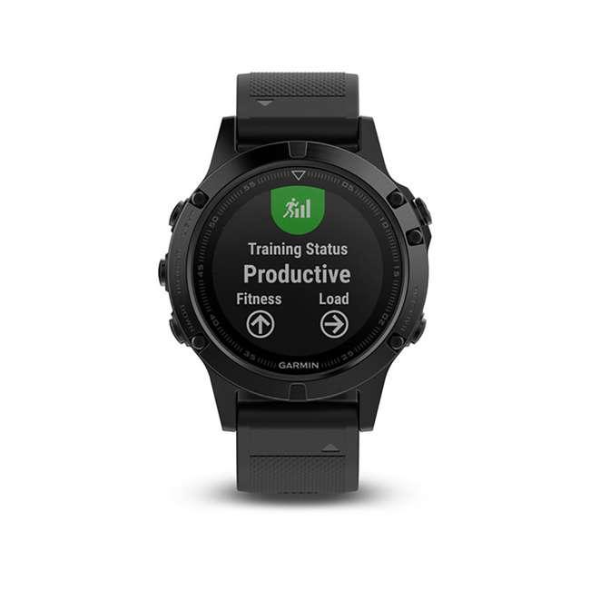 010-01688-10 Garmin Fenix 5 Multi-Sport 64 MB Smart Watch, Black 2