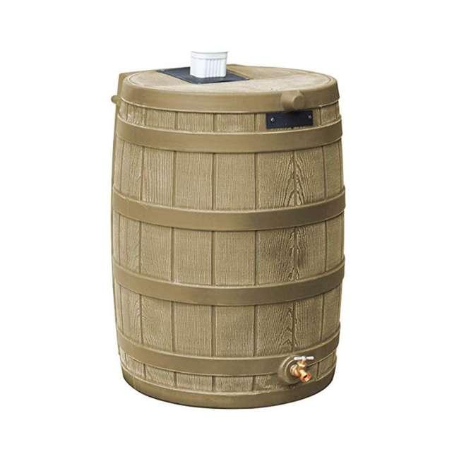 RW40-KHA Good Ideas RW40-KHA Rain Wizard Rain Collection Barrel 40-Gallon, Khaki