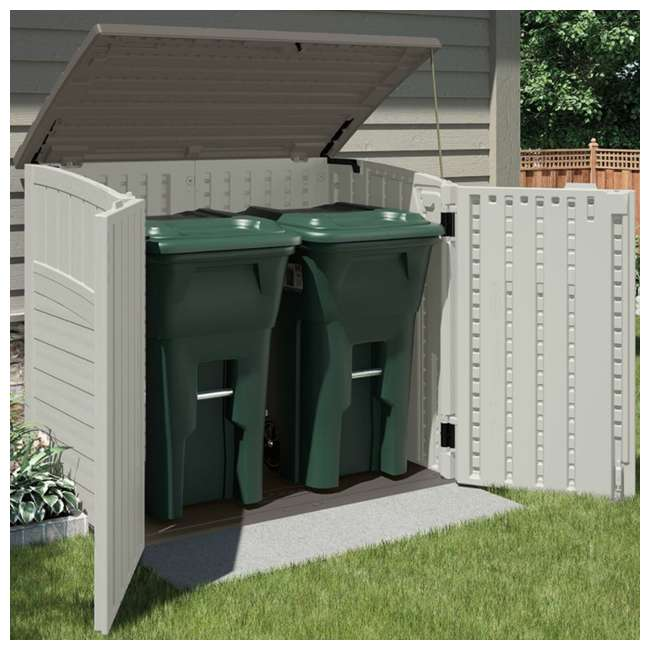 BMS2500-U-A Suncast 34 Cu. Ft. Resin Storage Shed w/Reinforced Floor  -  (Open Box) (2 Pack) 3
