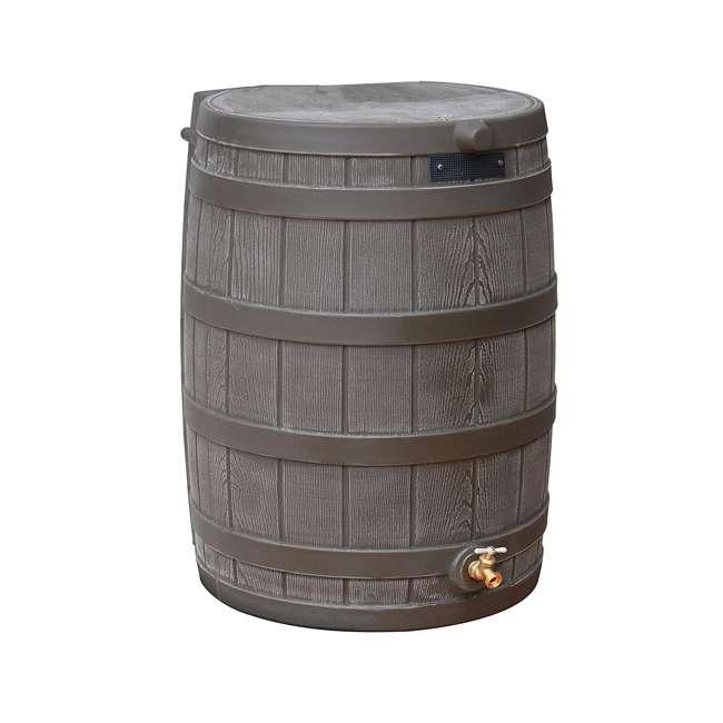 RW50-DIV-OAK Good Ideas Rain Wizard Rain Collection Barrel 50-Gallon w/ Diverter Kit, Oak 1