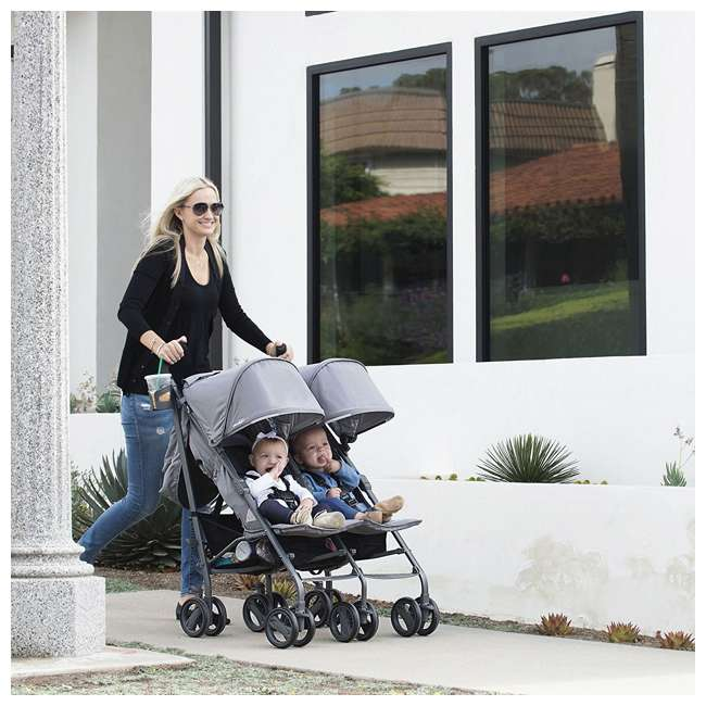 JVY-8087 Joovy Twin Groove Double Ultralight Umbrella Stroller, Black 2