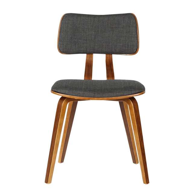 LCJASIWACH Armen Living Jaguar Mid-Century Dining Chair in Walnut Wood and Charcoal Fabric 2