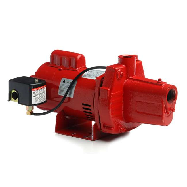 RL-602206-U-C Red Lion RJS-50-PREM .5HP Cast Iron Thermoplastic Shallow Jet Pump (For Parts)