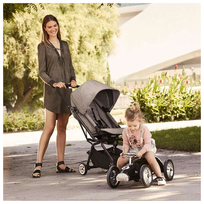 518001259  Cybex Eezy S Twist Travel System Baby and Toddler Stroller w/ Sun Canopy, Black 9