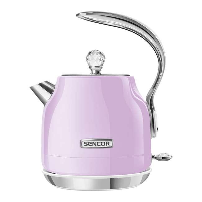 SWK45VT-NAB1 Sencor SWK45VT 1.2L Crystal Electric Kettle & Hot Water Tea Pot, Light Purple