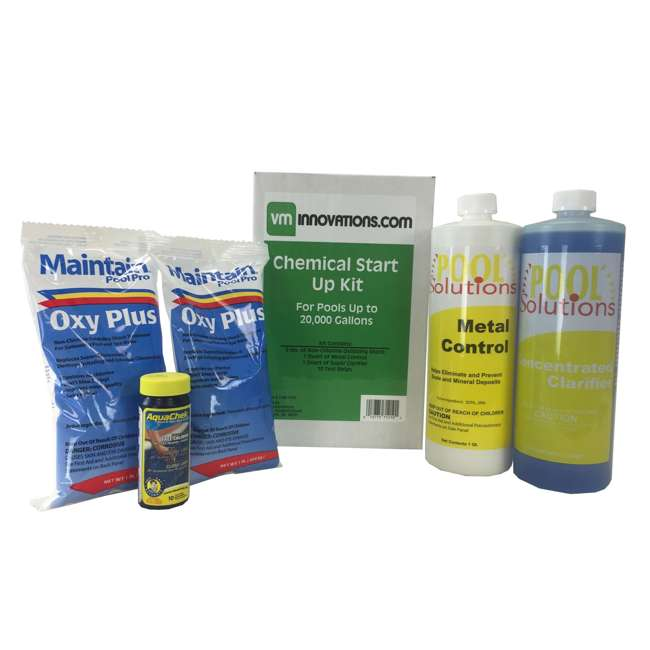 6 x 20K-7-28-1210 Pool Solutions Start-Up Chemical Opening Kits (6 Pack) 1