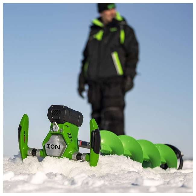 ION39350 ION G2 39350 8 Inch Lithium Ion Electric Ice Fishing Auger w/ Reverse & Battery 1