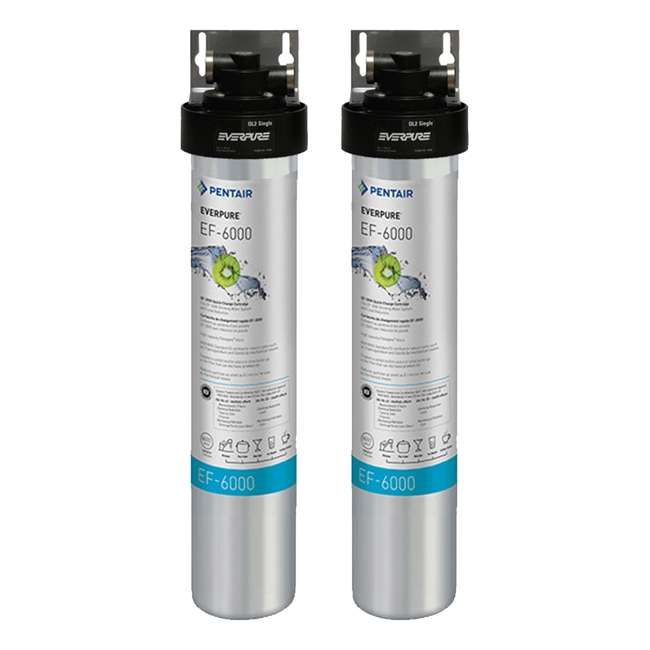 EV985500 Full Flow Drinking Water Filter System for Home Faucets (2 Pack)