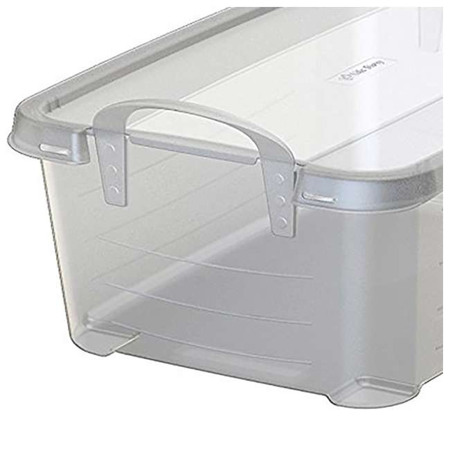 CS-12-U-A Life Story Clear Stackable Storage Container, 14 Quart (Open Box) (2 Pack) 3