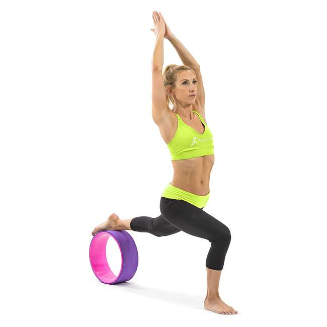 ps-1071-yw-purple/pink Prosource Fit 12 Inch Yoga Wheel Prop Exercise Fitness Equipment, Purple/Pink 2