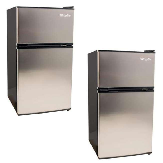 CRF321SS EdgeStar 19 Inch Wide 3.1 Cubic Feet Small Beverage Mini Fridge Freezer (2 Pack)
