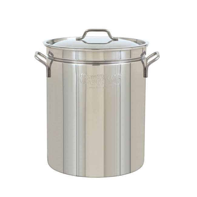 BC-1060-U-B Bayou Large 62 Quart Stainless Steel Boil Fry Steam Soup Stockpot w/ Lid (Used)