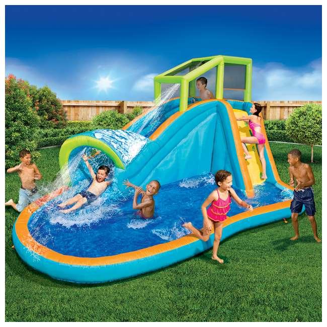 Pool Water Splash: Banzai Inflatable Pipeline Water Slide And Splash Pool