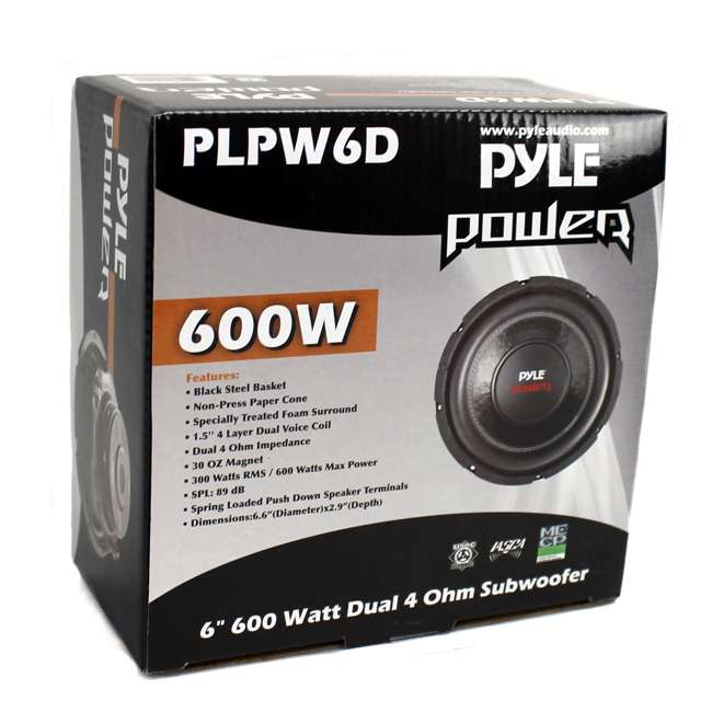 12 x PLPW6D Pyle PLPW6D 6-Inch 600 Watt Car Audio Subwoofer (12 Pack) 4