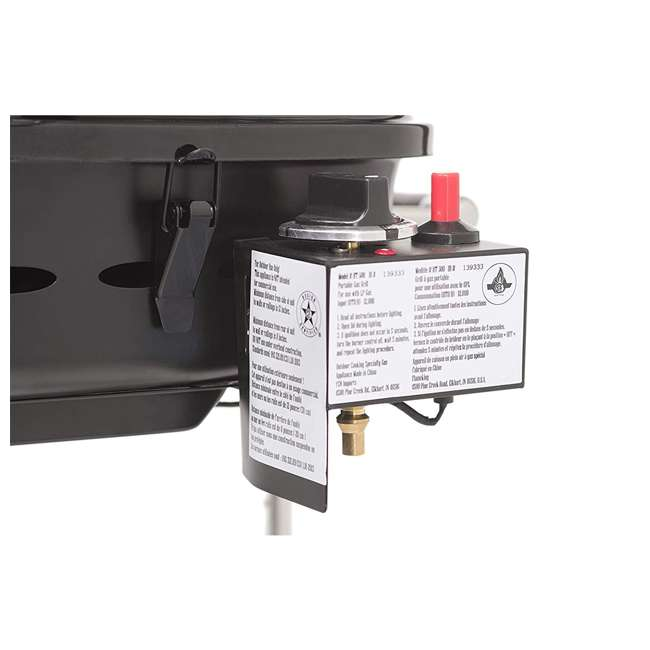 YSNHT400 Flame King YSNHT400 RV Trailer Mount 214 Square Inch Propane Gas Grill, Black 3