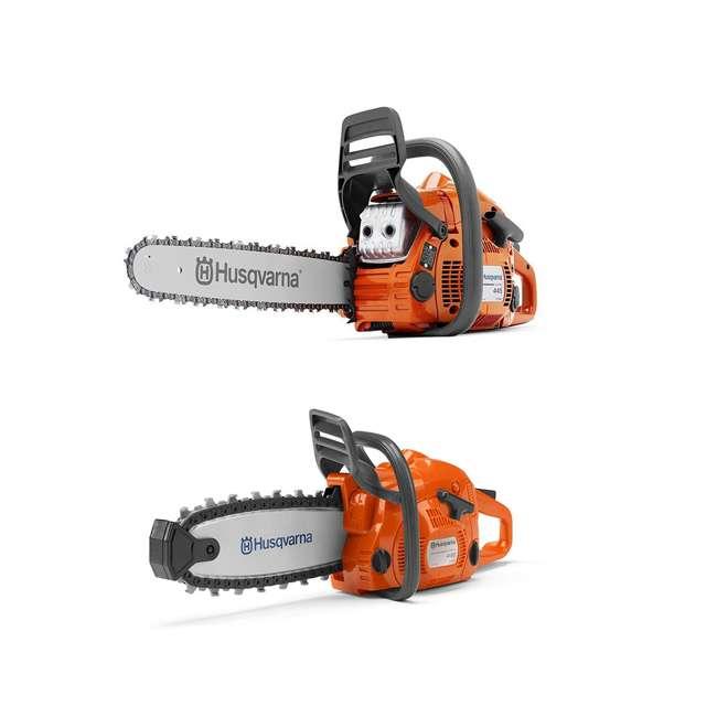 HV-CS-967651003 + HV-TOY-522771104 Husqvarna 445E 18-Inch Gas X-Torq Chainsaw with 440 Toy Kids Chainsaw, Orange