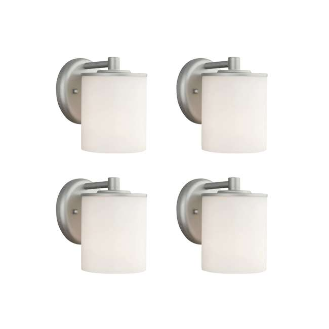 4 x PLC-F849941 Philips Forecast 60W Midnight Outdoor Wall Lantern Light, Vista Silver (4 Pack)