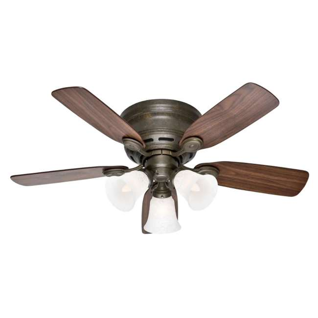 51045 Hunter 51045 Low Profile Plus 42 Inch 5 Blade Quiet Ceiling Fan w/ Mounting Kit