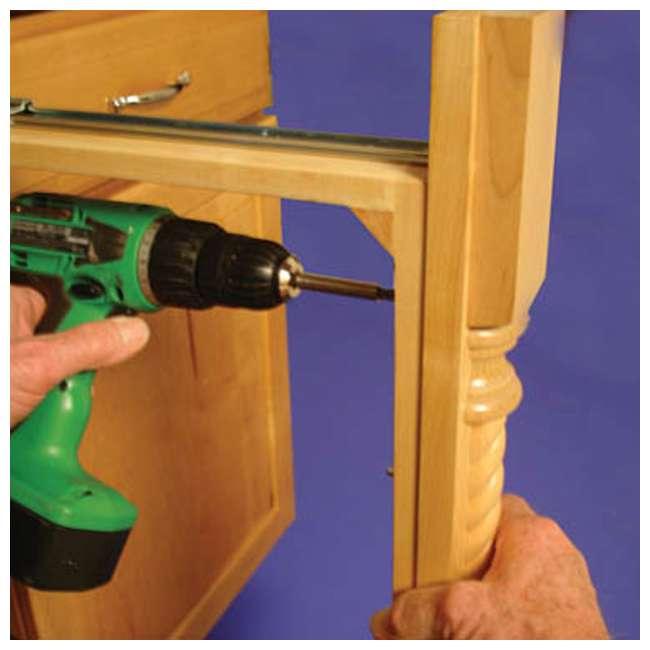 432-BF-3C-24 Rev A Shelf 3 Inch Base Filler Pullout Kitchen Wooden Spice Rack Holder Shelves 3